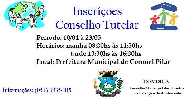 Inscrições Conselho Tutelar