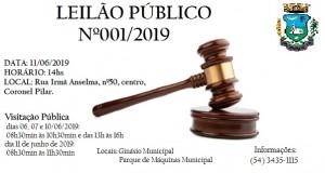 Leilão Público 001/2019