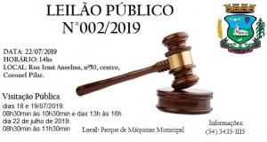 Leilão Público 002/2019